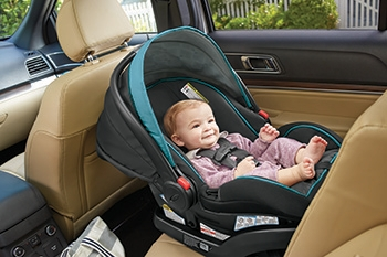 Baby Happy in a Rear Facing Car Seat