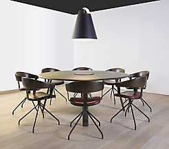 Ami Round Conference Table with Power
