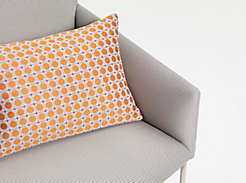 Moving In on Asa Lounge with Dot Grid Pillow