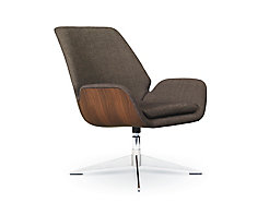 Conexus Wood Mid Back Lounge Chair