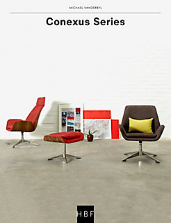 Conexus Upholstered Mid Back Lounge Chair | HBF Furniture