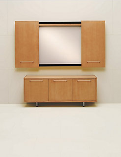 LOGICmeet Credenza with Presentation Cabinet