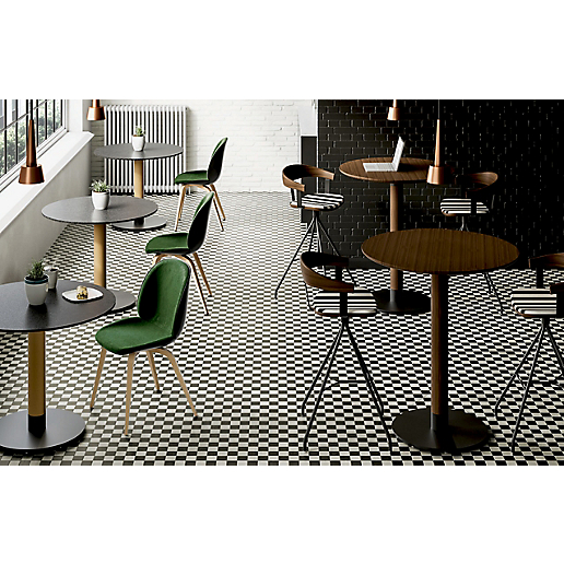 Meki Round Standing Height Conference Table HBF Furniture - Standing height meeting table