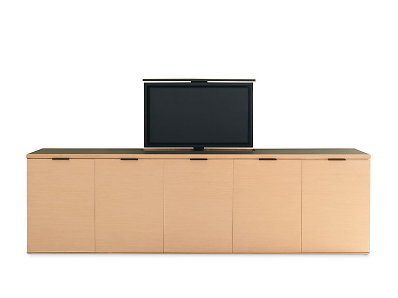 linea tv lift and projection credenzas | hbf furniture
