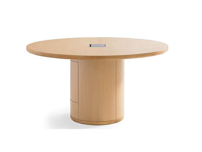 Linea Round Conference Table HBF Furniture - Round wood conference table