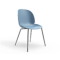 Beetle By Gubi 174 Upholstered Guest Chair With Wood Base