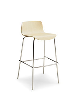 Andaz Low Back Wood Barstool