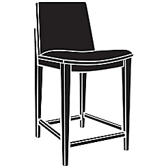 carlyle upholstered counter stool