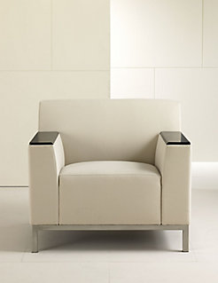 Bianco Lounge Chair with Arm Caps