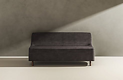 C Collection Loveseat - wood legs
