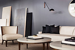 Charlotte Lounge Chair with Perfect Pitch Sofa and Slice Coffee Tables