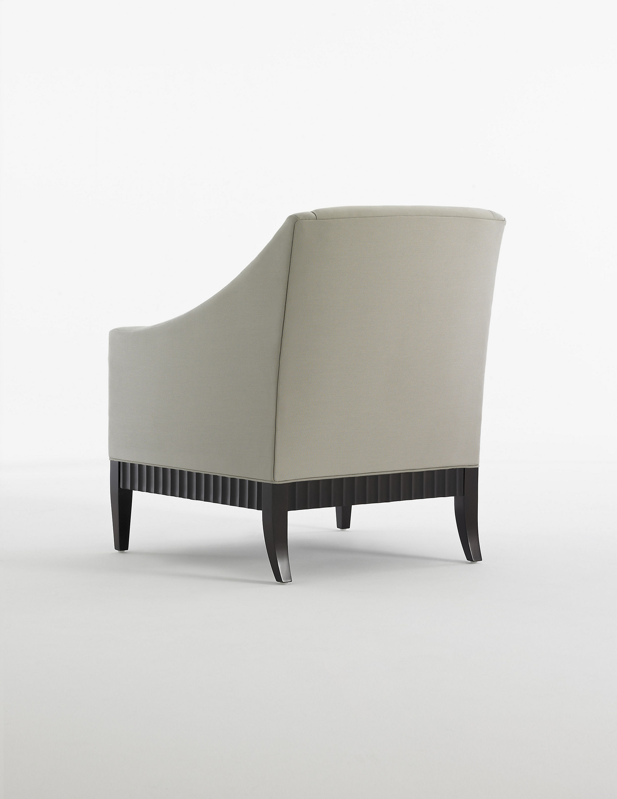 Charlie Sofa with Fluted Wood Base