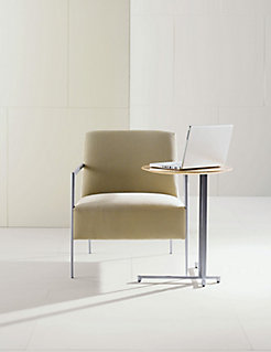 Cortona Lounge Chair with LOGICmeet Laptop Table