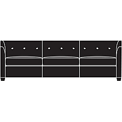 Beau Chill III Sofa   Button Back