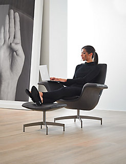 Dialogue Lounge Chair + Ottoman