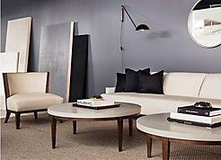 Perfect Pitch Sofa with Charlotte Lounge and Slice Tables
