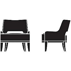 Salon Lounge Chair   Open Back