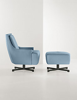Scoop Lounge Chair + Ottoman