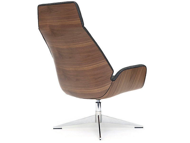 Conexus High Wood Back Lounge Chair