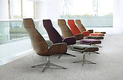 Conexus Lounge Chairs + Ottomans