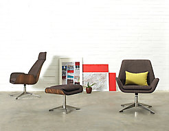 Conexus Lounge Chairs + Ottoman