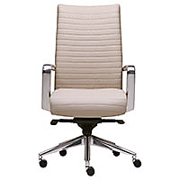 Cadre High Back Channel Stitched Swivel Chair