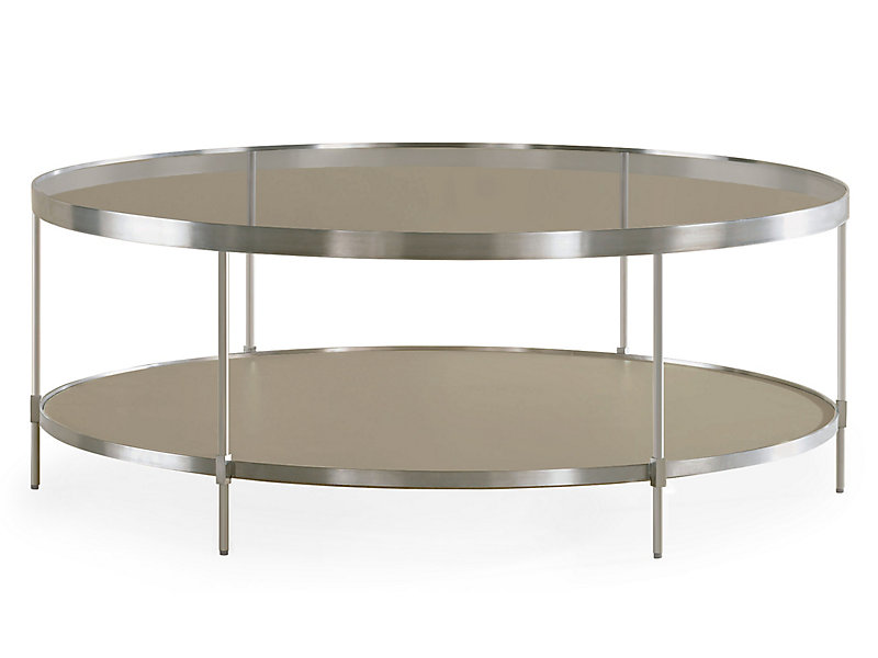 Double take round coffee table hbf furniture for Double round coffee table