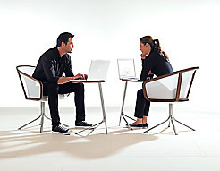Nest Lounge Chair + Nest Satellite Tables