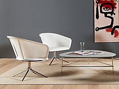 Triscape Coffee Table with Nest Lounge Chairs