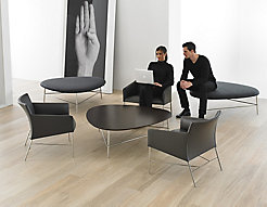 Triscape Coffee Table and Benches with Asa Chairs
