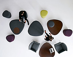 Triscape Coffee Tables, Benches and Poufs with Asa Chairs