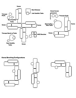 Kanso Benching Configurations
