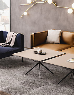 MOD Sofa + Lounge Chair with Universal Tables