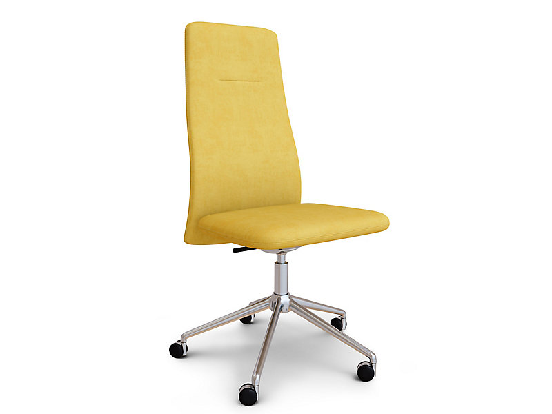 Vela High Back Armless Swivel Chair Hbf Furniture
