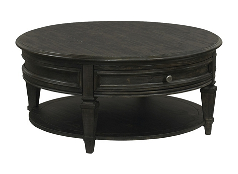 Beckley round cocktail table havertys - Brickmakers coffee table living room ...
