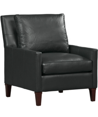 main modern profiles leather accent chair image