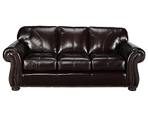 Mixing leather sofa with fabric chairs in living room - Mixing leather and fabric living room ...