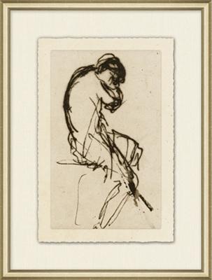 Figure Study Framed Art I