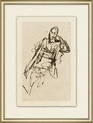 Figure Study Framed Art II