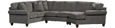 Sectional Sofas In Leather Brown Beige More Havertys