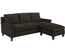 Soft Microfiber Havertys Chaise Sleeper Sectional Sofa