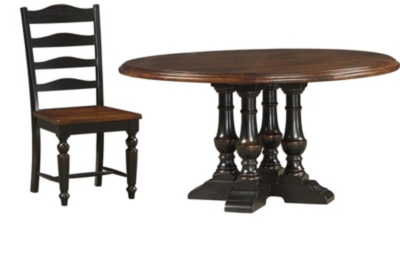 60 inch round dining table with 4 dining chairs - 60 Inch Round Dining Table