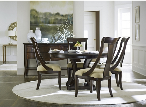 Astor park round dining table havertys for Astor dining table