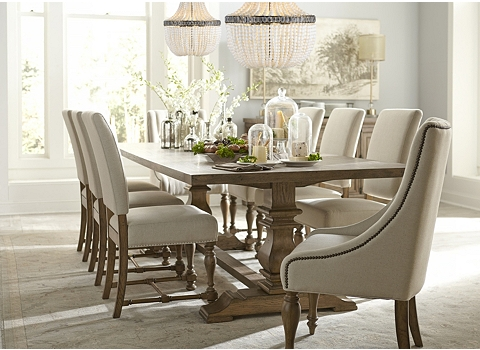 Havertys dining room sets havertys newport collection for Dining room tables havertys