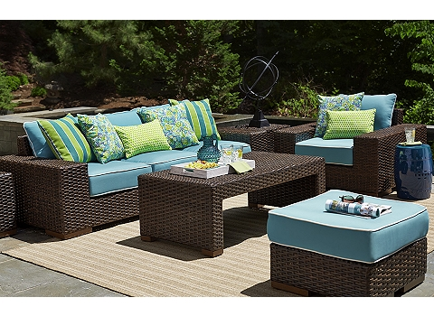 Outdoor Furniture Havertys - Turquoise outdoor furniture