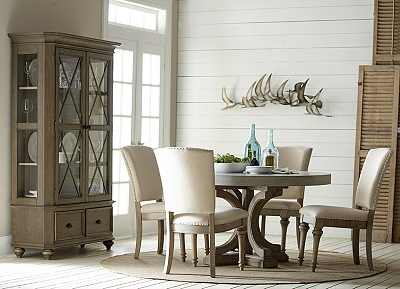 lakeview round concrete dining table | havertys