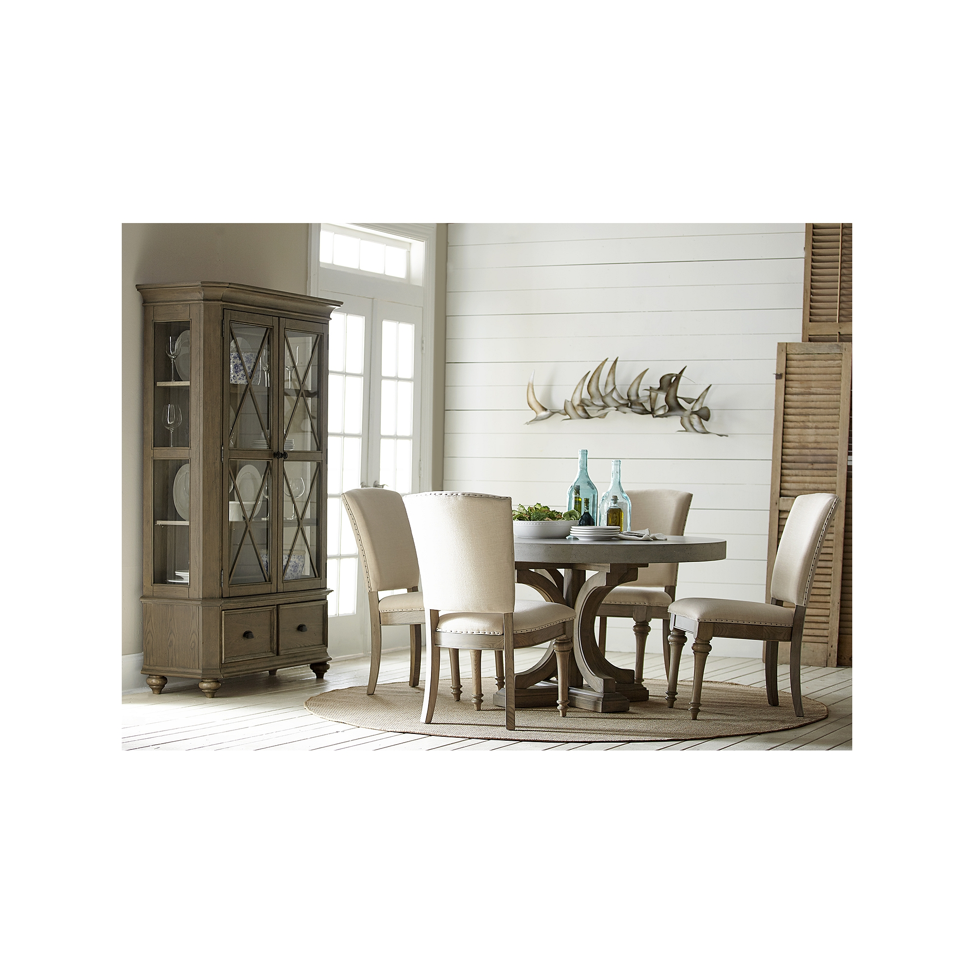 lakeview round concrete dining table havertys kitchen tables