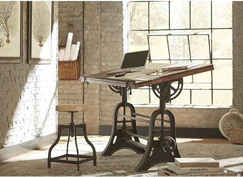 Alternate River City Drafting Table Image - River City Drafting Table Havertys
