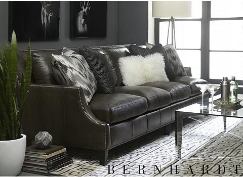 havertys distressed leather nailhead large sofa   Colton Sofa   Havertys