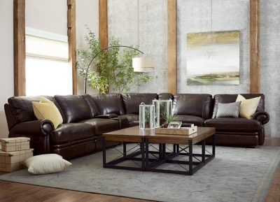 Alternate Bentley Sectional Image : bentley leather sectional - Sectionals, Sofas & Couches